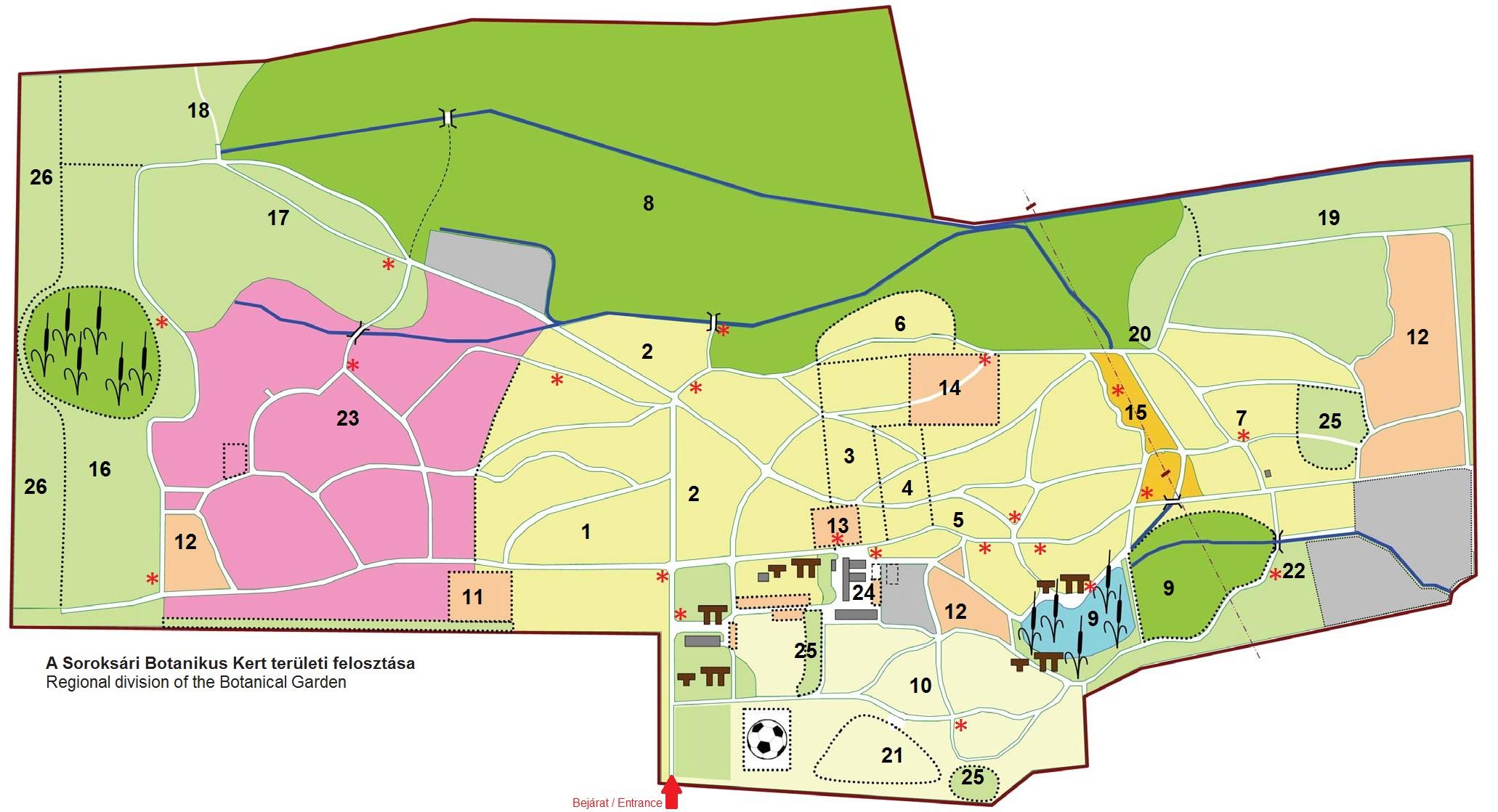 soroksári botanikus kert térkép Térkép | Soroksári Botanikus Kert